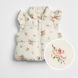 GAP Toddler Girl Floral Vest -  size 18-24 months